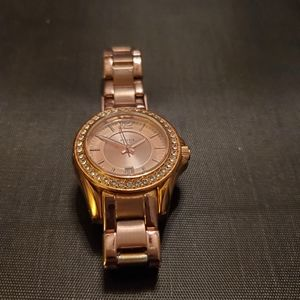 Fossil Riley Rose Gold Crystal Watch